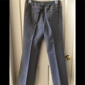 NWOT Gray Stretch Jeans, Back Pockets, Pull On, MP